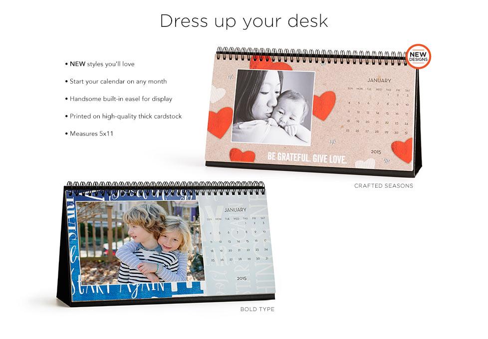 Desk Calendar Design Your Own : Desk calendars custom photo