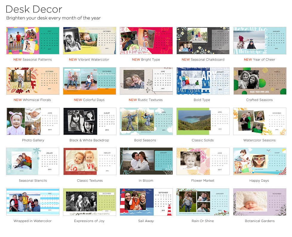 Desk Calendars: Custom Desk Calendars, Custom Photo Calendars ...