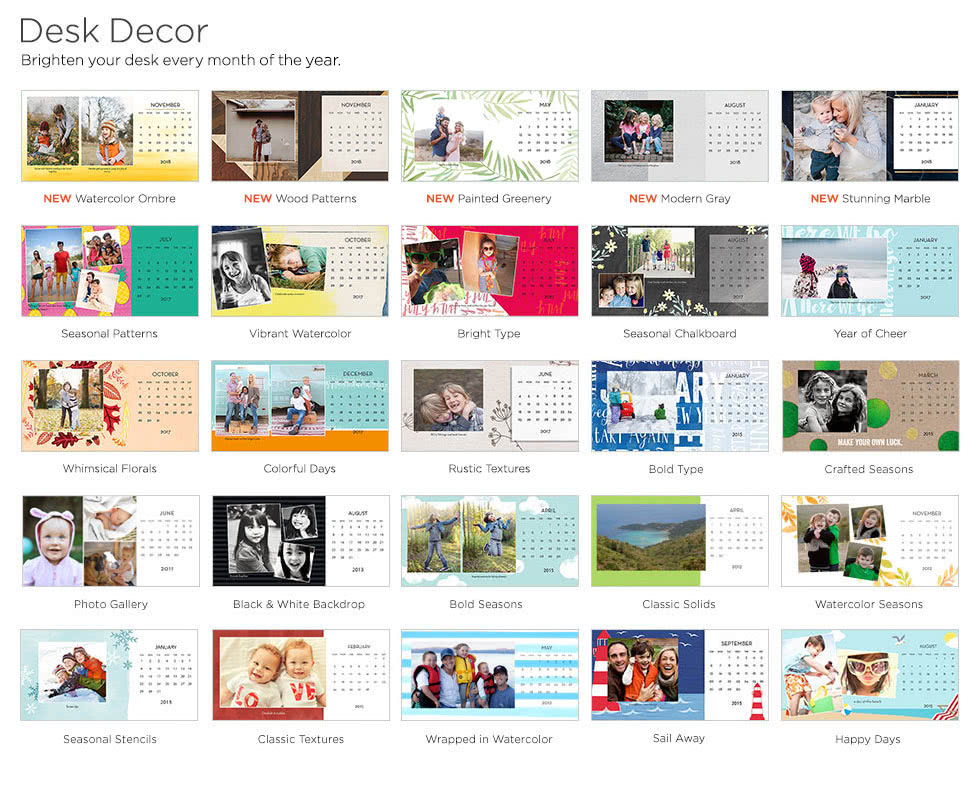 desk calendars custom desk calendars custom photo calendars shutterfly